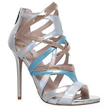 Buy Carvela Gum Occasion Stiletto Heeled Sandals, Silver Online at johnlewis.com