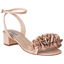 Buy L.K. Bennett Coralie Flower Ruffle Sandals,  Marshmallow Online at johnlewis.com
