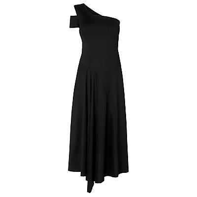 L.K. Bennett Lavendar Asymmetric Dress, Black