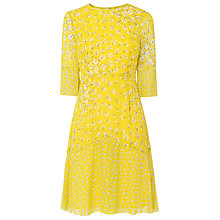 Buy L.K. Bennett Ros Flippy Godet Floral Print Silk Dress Online at johnlewis.com