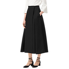 Buy L.K. Bennett Santana Full Maxi Skirt, Black Online at johnlewis.com