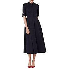 Buy L.K. Bennett Darly Cotton Shirt Dress, Navy Online at johnlewis.com