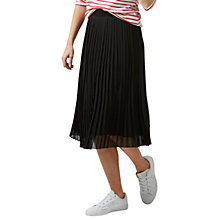 Buy Sugarhill Boutique Lynette Pleated Midi Skirt, Black Online at johnlewis.com