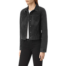 Buy AllSaints Jasper Denim Jacket, Black Online at johnlewis.com
