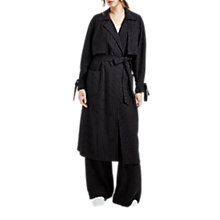 Buy Grace & Oliver Martha Pinstripe Trench Coat, Navy/White Online at johnlewis.com
