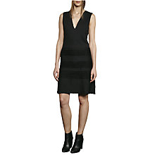 Buy French Connection Pleat Lace Jersey Dress, Black Online at johnlewis.com