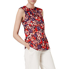 Buy L.K. Bennett Kayla Silk Layered Top, Multi Online at johnlewis.com