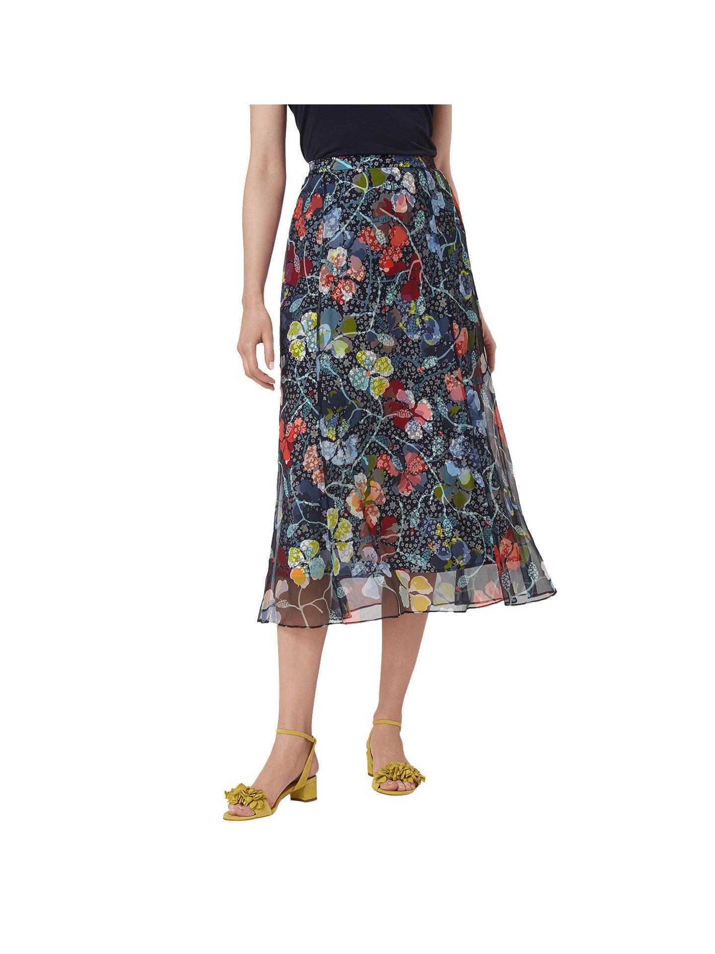 3e04981664 Buy L.K. Bennett Phia Floral Midi Silk Skirt, Multi, 6 Online at johnlewis.