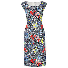 Buy L.K. Bennett Phi Floral Print Dress, Sloane Blue/Multi Online at johnlewis.com