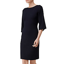 Buy L.K. Bennett Tonya Rib Detail Dress, Navy Online at johnlewis.com
