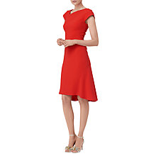 Buy L.K. Bennett Ire Fit And Flare Dress, Aurora Red Online at johnlewis.com