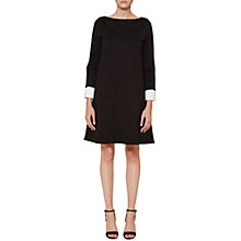 Buy French Connection Lula Turn Up Cuff Boat Neck Dress, Summer White Online at johnlewis.com