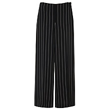 Buy L.K. Bennett Caralyn Wide Stripe Trousers, Black Online at johnlewis.com