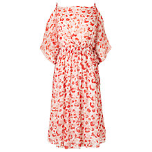 Buy L.K. Bennett Marnie Silk Printed Dress, Red Online at johnlewis.com