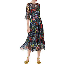 Buy L.K. Bennett Phia Soft Floral Print Silk Dress, Multi Online at johnlewis.com