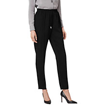 Buy L.K. Bennett Hilly Drawstring Trousers, Black Online at johnlewis.com