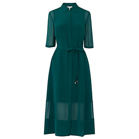 Buy L.K. Bennett Coral Shirt Dress, Green Online at johnlewis.com