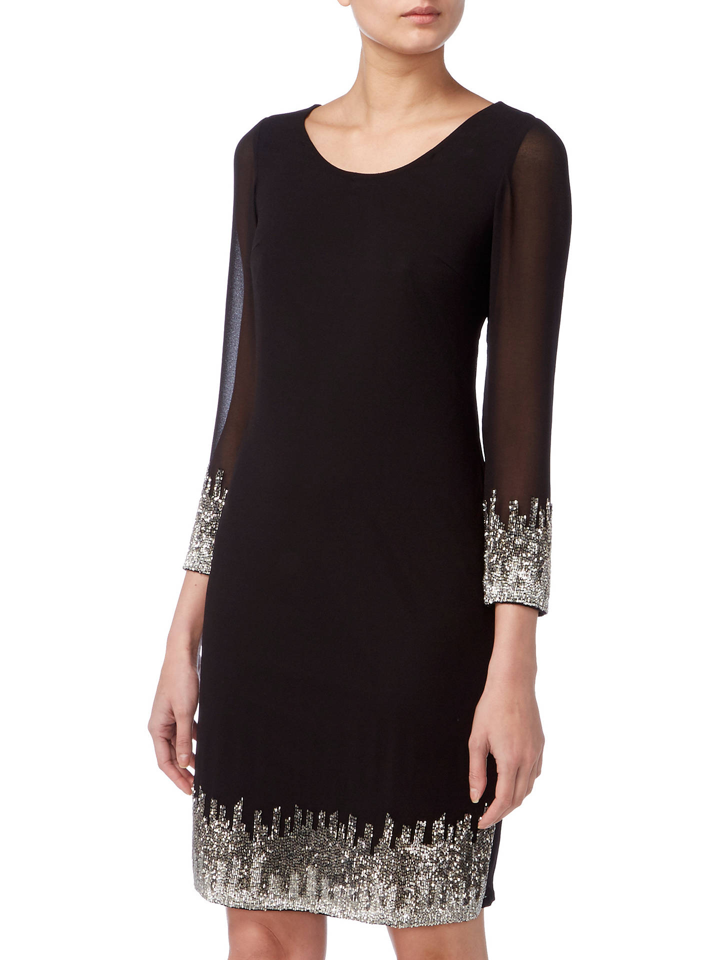 Buy Raishma Vertical Embellished Tunic Dress, Black, 8 Online at johnlewis.com