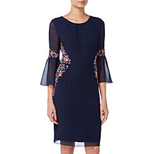 Buy Raishma Pleated Sleeve Floral Dress, Navy Online at johnlewis.com