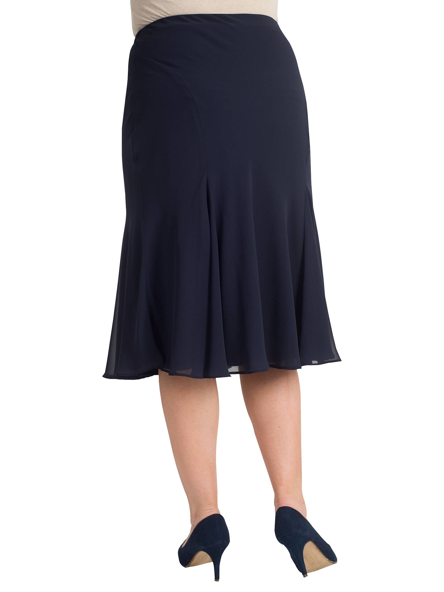 Buy Chesca Chiffon Skirt, Dark Navy, 14 Online at johnlewis.com