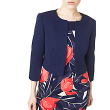 Buy Precis Petite Textured Cropped Jacket, Navy Online at johnlewis.com