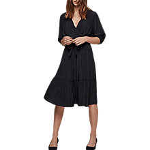 Buy Gerard Darel Murmur Pleated Wrap Dress, Navy Blue Online at johnlewis.com