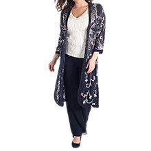 Buy Chesca Cornelli Embroidered Lace Coat, Navy Online at johnlewis.com