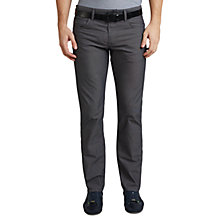 Buy BOSS Green C-Maine Straight Jeans, Black Online at johnlewis.com