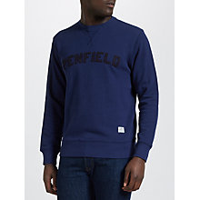 Buy Penfield Brookport Chenille Applique Crew Neck Sweatshirt, Blueprint Online at johnlewis.com