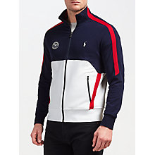 Buy Polo Ralph Lauren Support Wimbledon 2017 Stripe Track Jacket, French Navy/Pure White Online at johnlewis.com