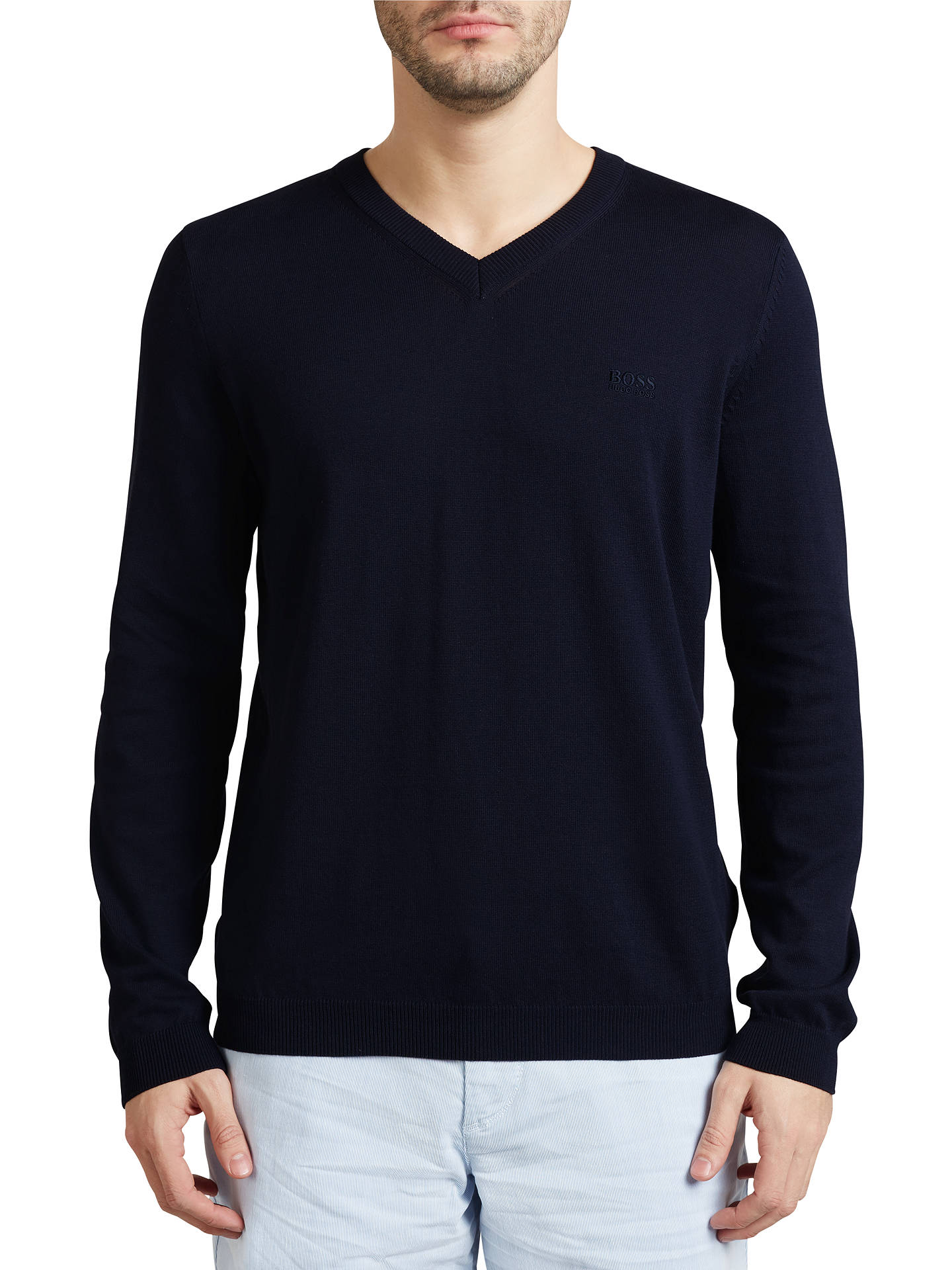 36788f23a Buy BOSS Green C-Carlton V-Neck Jumper, Navy, S Online at ...