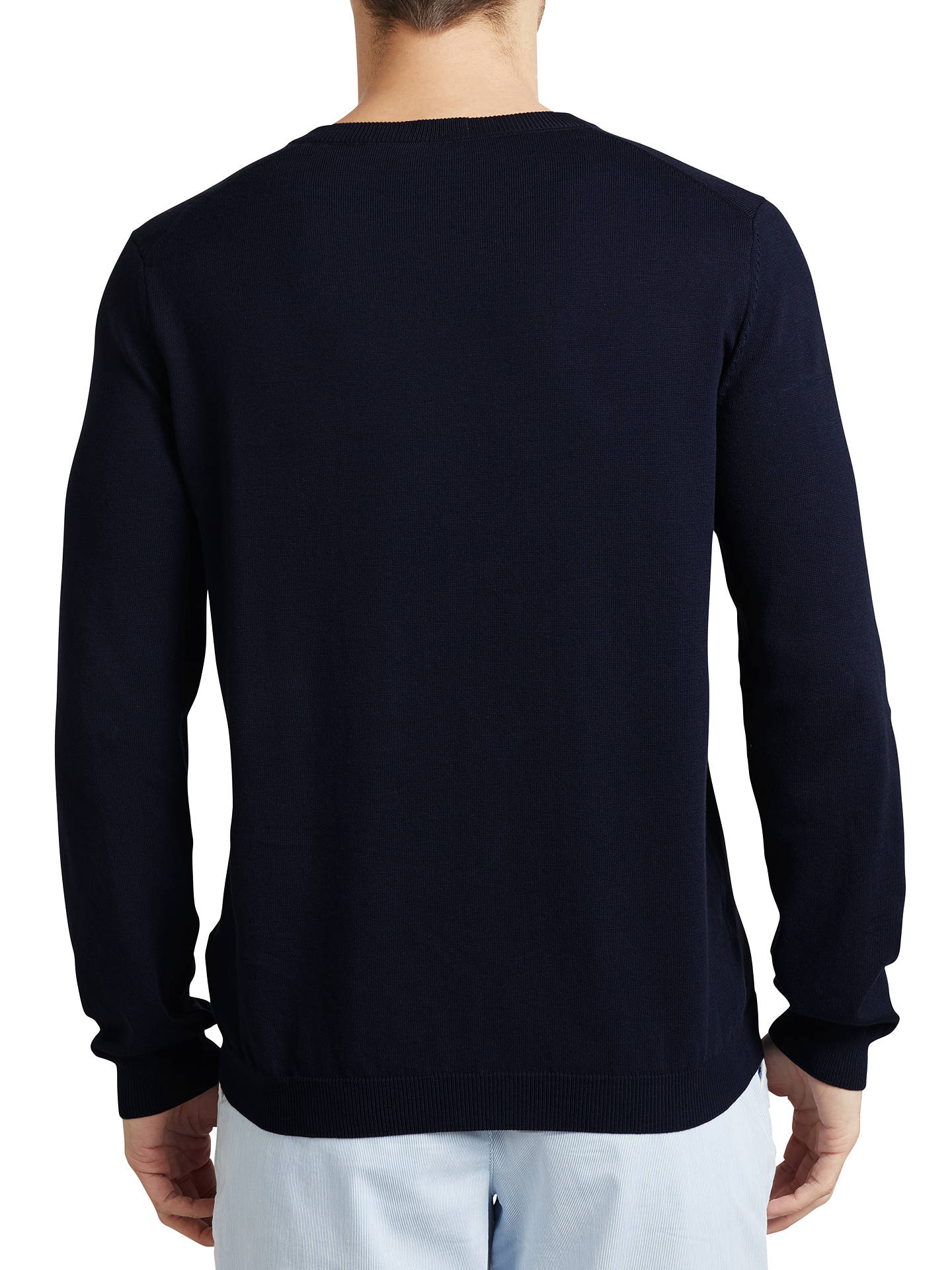 09e2182f7 ... Buy BOSS Green C-Carlton V-Neck Jumper, Navy, S Online at ...