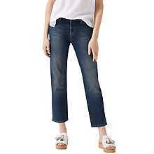 Buy Jigsaw Compton Straight Leg Cropped Jeans, Washed Indigo Online at johnlewis.com