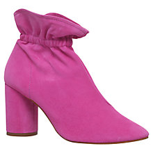 Buy KG by Kurt Geiger Raglan Block Heeled Ankle Boots, Pink Online at johnlewis.com