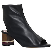 Buy KG by Kurt Geiger Rylene Peep Toe Shoe Boots, Black Online at johnlewis.com