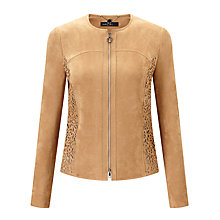 Buy Marc Cain Faux Suede Jacket, Warm Sand Online at johnlewis.com