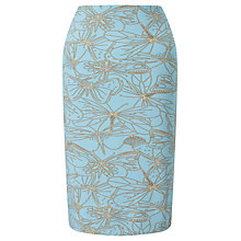 Buy Marc Cain Dragonfly Print Pencil Skirt, Mykonos Blue Online at johnlewis.com