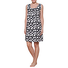 Buy Cyberjammies Clara Swan Print Chemise, Black/White Online at johnlewis.com