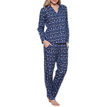 Buy Cyberjammies Josie Ditsy Print Pyjama Set, Navy/Multi Online at johnlewis.com