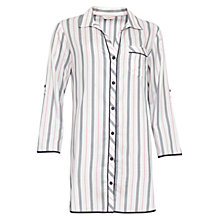Buy Cyberjammies Faye Stripe Night Shirt, White/Multi Online at johnlewis.com