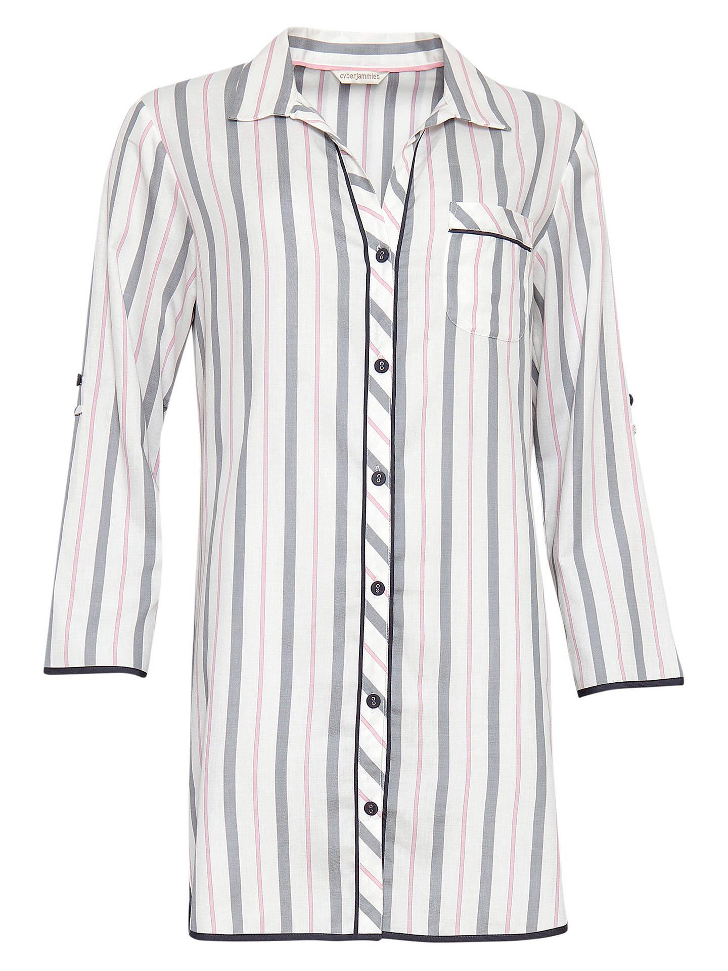 BuyCyberjammies Faye Stripe Nightshirt 6aafb6830