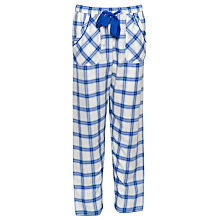 Buy Cyberjammies Maja Check Pyjama Bottoms, Blue/Multi Online at johnlewis.com