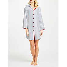 Buy Cyberjammies Wren Stripe Nightshirt, Pale Blue/Multi Online at johnlewis.com