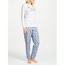 Buy Cyberjammies Tweet Bird Pyjama Set, Blue/White Online at johnlewis.com
