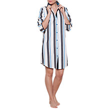 Buy Cyberjammies Clara Stripe Nightshirt, Multi Online at johnlewis.com