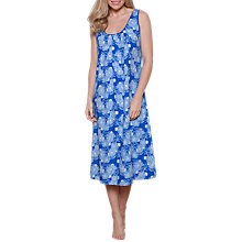 Buy Cyberjammies Maya Floral Print Chemise, Blue Online at johnlewis.com