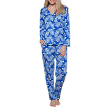 Buy Cyberjammies Maya Floral Print Pyjamas, Blue Online at johnlewis.com