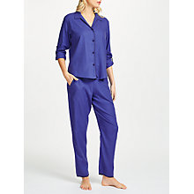 Buy Cyberjammies Sadie Spot Print Pyjama Set, Blue Online at johnlewis.com