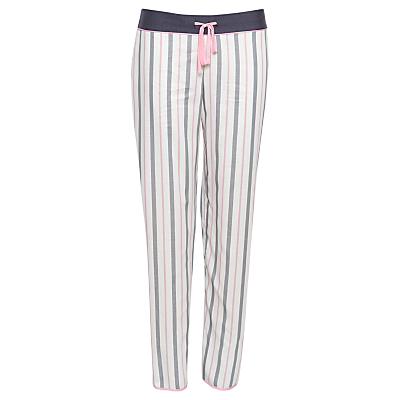 Cyberjammies Faye Stripe Pyjama Bottoms, White/Multi