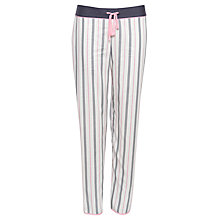 Buy Cyberjammies Faye Stripe Pyjama Bottoms, White/Multi Online at johnlewis.com